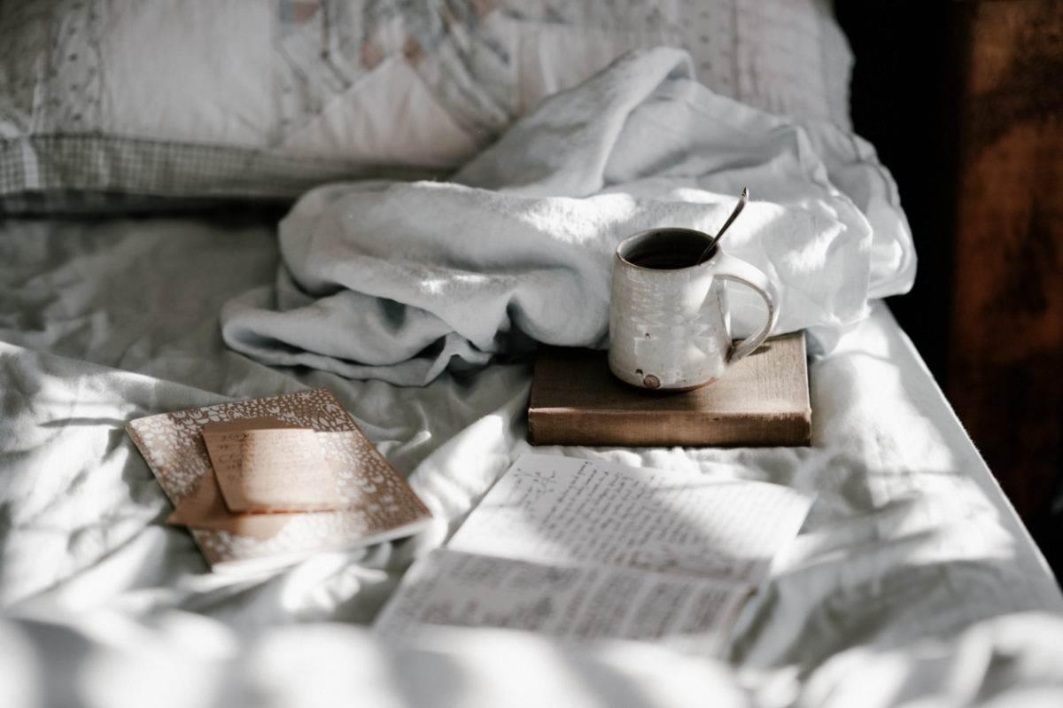 tea and notebooks