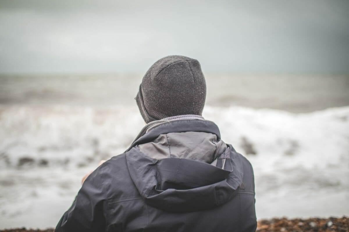 man at the ocean