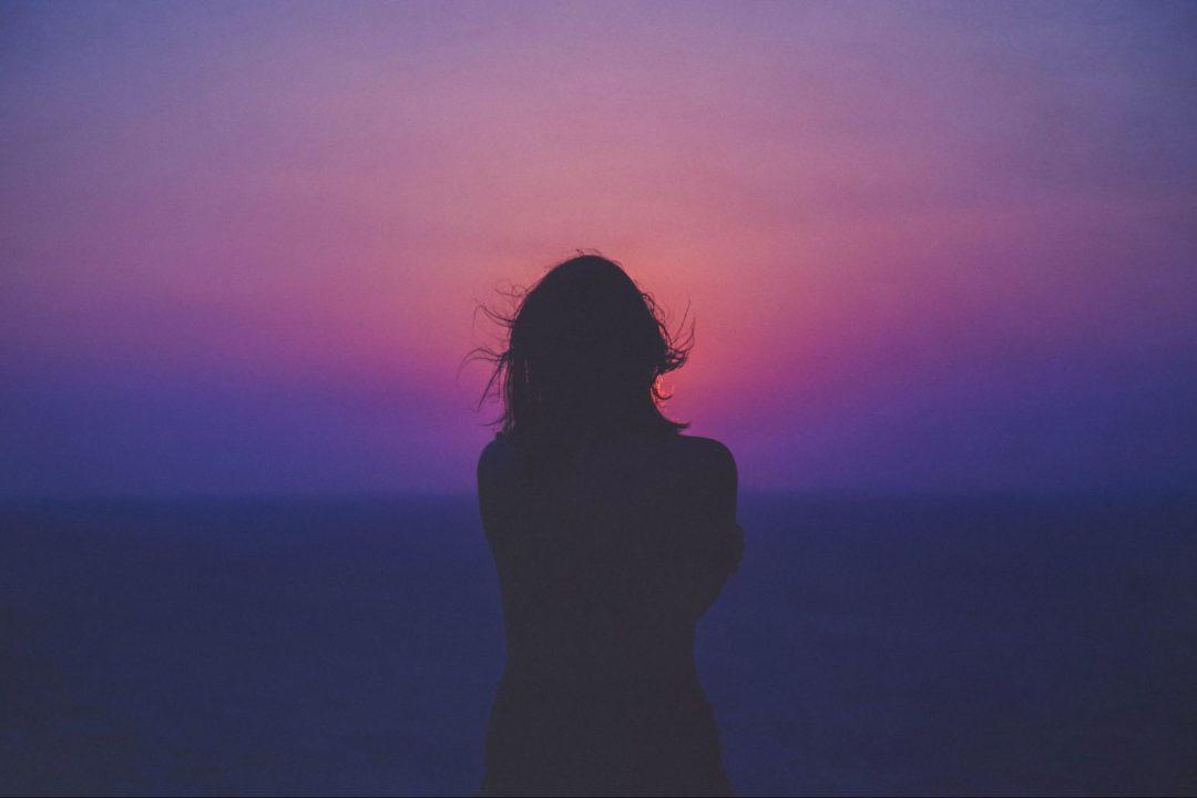 person at sunrise